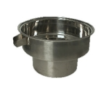 "Town 229022B 64 qt Stainless Blanch Pot, With Overflow, Fits 22"" Chamber, NSF"
