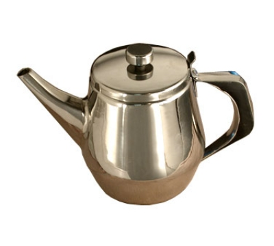 Town 24138 38 oz Stainless Teapot, Gooseneck Spout, Built-In Tea Leaf Strainer