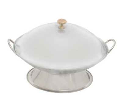 Town Food Service 25110 Wok Serving Dish, Two Handles, Polished Stainless, Without Cover, 10 in