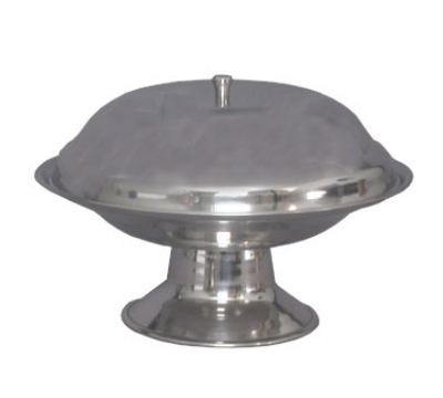 Town Food Service 25275 Stainless Compote Dish, Footed Base, Without Cover, 7-1/2 in