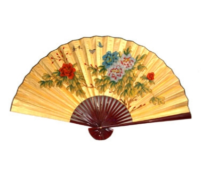 Town Food Service 28183 Decorative Wall Fan, Butterfly And Flower, 36 in