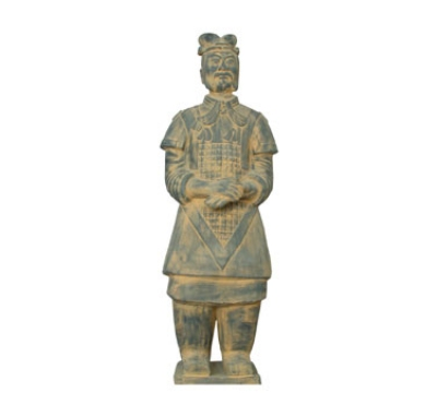 Town Foodservice Equipment 28203 Xian Officer Soldier Figurine Terra-Cotta 4-3/4 in Restaurant Supply