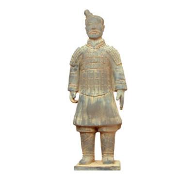 Town Food Service 28232 Xian Horseman Soldier Statue, Terra-Cotts, 19 in
