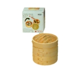 Town Food Service 34206 Bamboo Steamer Set, Includes 2 Steamers, 1 Cover, 6 in