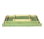 Town Food Service 34238 Square Sushi/Serving Tray, Bamboo, 7-3/4 X 7-3/4 in