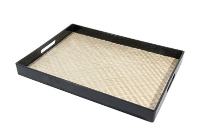 Town 34245 Room Service Tray, With Black Plastic Frame