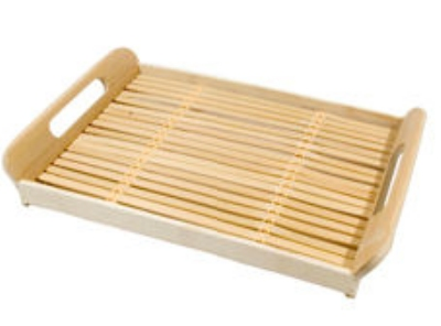 "Town 34248 Rectangle Serving Tray -  Built In Handles 11x14"" Bamboo"