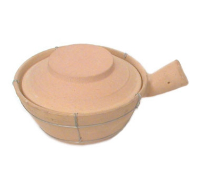Town Food Service 34757 24 oz Ceramic Sauce Pan, With Lid, 7-3/4 in