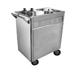 Town 36615 Dim Sum Cart, Removable Panels, Includes Casters, 3/4 in Drain Valve, Stainless