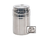 Town Food Service 37594 9 oz Dredge/Shaker, No Handle, 3-Way Adjustable Top, Stainless
