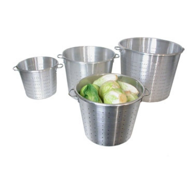 Town Food Service 38015 60 qt Vegetable Colander, Large Riveted Handles, Aluminum