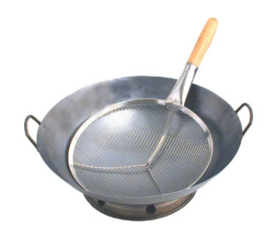 "Town 42411 11"" Cantonese Strainer w/ Reinforced Mesh & Frame, Wood Handle"