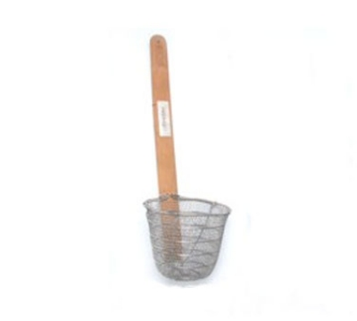 "Town 42615 5-1/2"" Diameter Wire Mesh Noodle Skimmer, Bamboo Handle, Stainless"