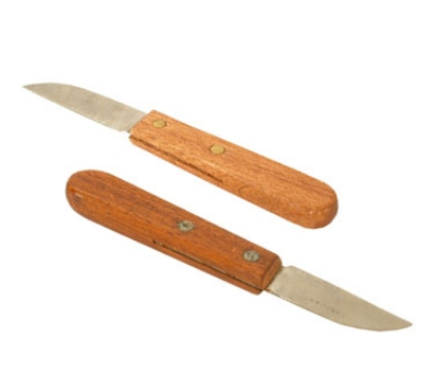 Town Food Service 47402 Onion Knife w/ 2.5 X .75-in Stainless Blade & Riveted Wood Handle
