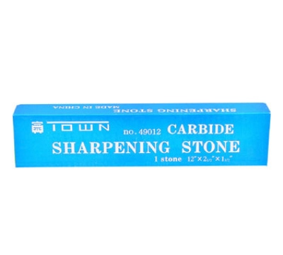 Town 49012 12-in Double Sided Sharpening Stone, Fine/Coarse, Silicon Carbide