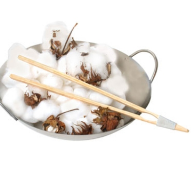Town Food Service 51318 10-1/2 in Bamboo Serving Tong, Joined And Tied