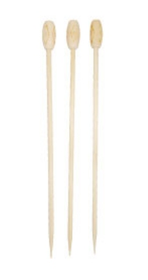 Town Food Service 51608T White Tiki Shape Ball Pick