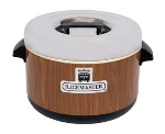 Town Food Service 56912W 12 qt Sushi Rice Container, Wood Grain Exterior