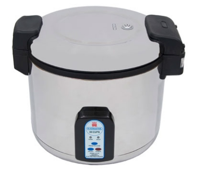 Town 57130 30 Cup Electric Rice Cooker, One Touch, Stainless Exterior, 120 V