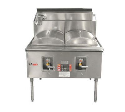 Town Food Service CF-2 LP Cheung Fun Noodle Range, Gas, 2 Two Ring Burner, Manual Fill Faucet, 43 in LP