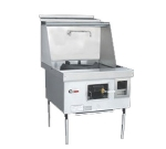 Town Food Service E-1-SS NG Express Wok Range, 1 Chamber, Lower Right Sink, Stainless Sides, NG