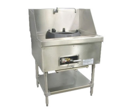 Town Food Service M-1-JR NG MasterRange Junior, 1 Chamber, Refractory Brick Insulation, Stainless Sides, NG