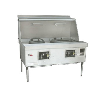 Town Food Service Y-2-STD NG York Wok Range, 2 Chamber, Fiber Ceramic Insulation, Painted Sides, NG