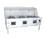Town Food Service M-3-STD NG MasterRange, 3 Chamber, Refractory Brick Insulation, Painted Sides, NG