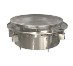 Town Food Service MBR-72 NG 72 in Mongolian BBQ Range, Steel Flat Top w/ Cast Iron Defelctors, NG