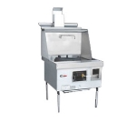 Town Food Service YF-1-STD LP York Wok Range, 1 Chamber w/ Flue, Fiber Ceramic Insulation, Painted Sides, LP