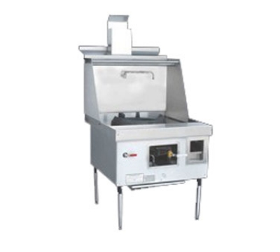 Town Food Service EF-1-SS NG Express Wok Range, 1 Chamber w/ Flue, Lower Right Sink, Stainless Sides, NG