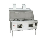 Town Food Service YF-2-STD LP York Wok Range, 2 Chamber w/ Flue, Fiber Ceramic Insulation, Painted Sides, LP