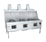 Town Food Service MF-3-SS LP MasterRange, 3 Chamber w/ Flue, Refractory Brick Insulation, Stainless Sides, LP