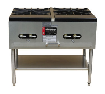 Town SR-24-G-2X 2-Burner Stock Pot Range, NG