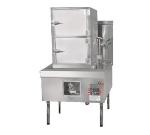 Town Food Service YF-STMR-SS NG Steamer Range And Cabinet, 2 Compartments, 41 in Cabinet, 32 Tip Jet Burner NG