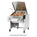 Market Forge 30PSTEL2083 Tilting Skillet, 30 gal. Capacity, Open Leg Frame Base, 208/3 V