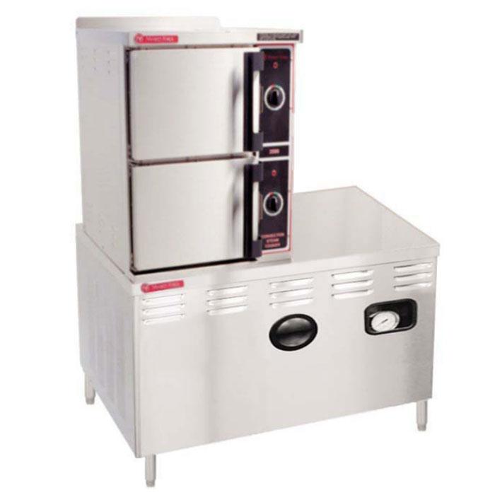 Market Forge 3500M36D Direct Steam Floor Model Steamer w/ (6) Full Size Pan Capacity, 120v
