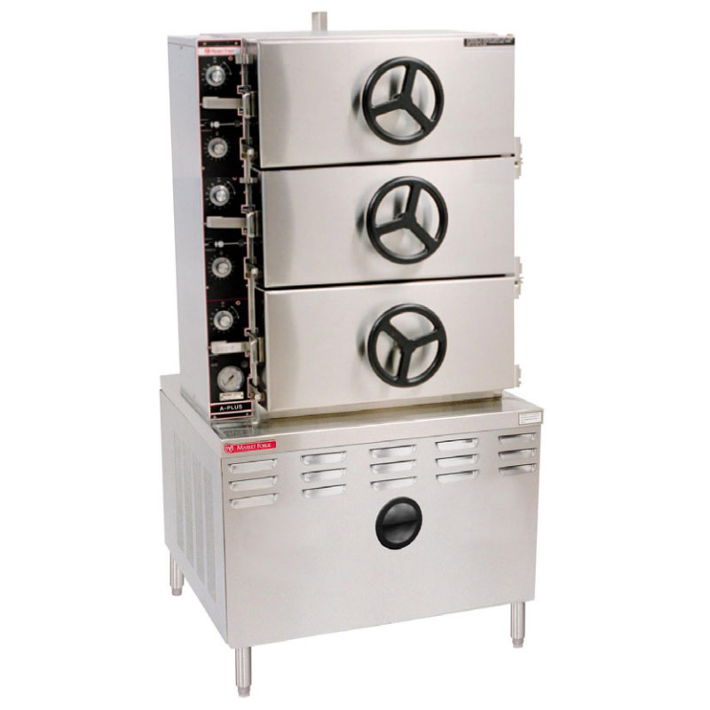 Market Forge 3AM36D Direct Steam Pressure Steamer w/ (24) Full Size Pan Capacity, 240v/3ph