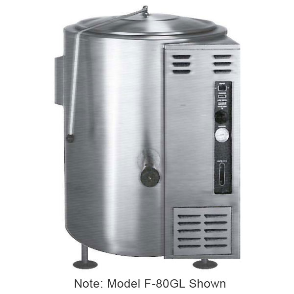 Market Forge F-100GL Kettle, 100-gallon Capacity, SS Construction, NG