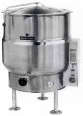 Market Forge F100LE2083 Kettle, 100 Gallon Capacity, Tri-Leg, All SS Exterior, 208/3 V