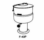 Market Forge F100PE2081 Kettle, 100 Gal., Pedestal Base, 208/1 V