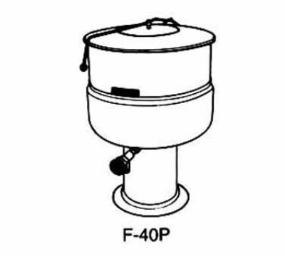 Market Forge F100PE2083 Kettle 100 Gal. Pedestal Base 208/3 V Restaurant Supply