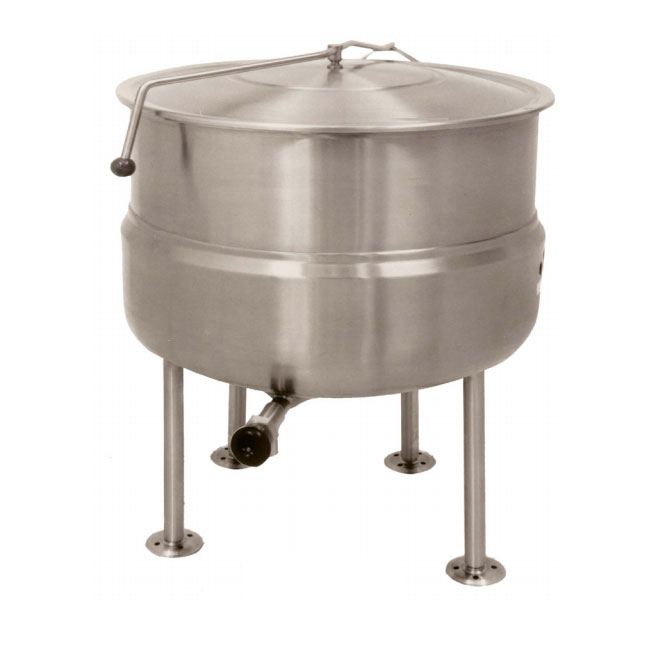 Market Forge F125L Kettle, Direct Steam, Stationary, 125 gal. Capacity