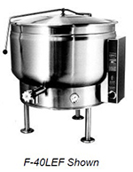 Market Forge F-20LEF 2403 20-gal Kettle w/ Full Steam Jacket Design, Tri-Leg, Stainless Exterior, 240/3 V