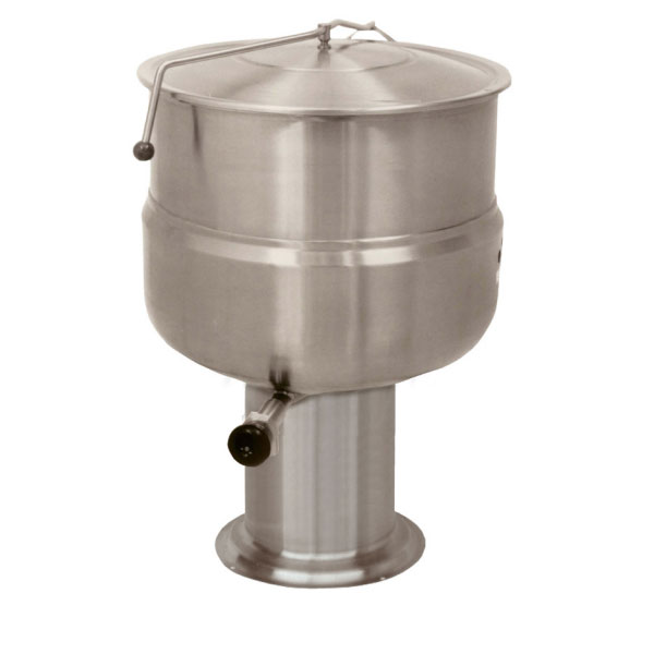 Market Forge F20P 20-gal Kettle, Direct Steam, 2/3-Steam Jacket Design, Pedestal Base