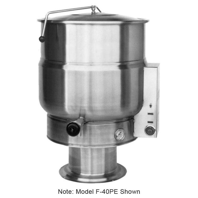 Market Forge F-20PE 20-Gallon Kettle, Pedestal Base, Stainless, 208/1 V