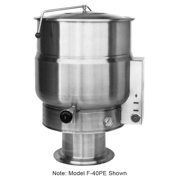 Market Forge F20PE2401 20-Gallon Kettle, Pedestal Base, Stainless, 240/1 V