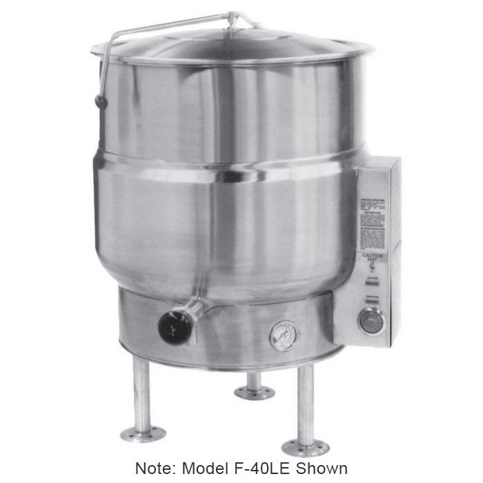 Market Forge F30LE2401 30-Gallon Kettle, Tri-Leg, Stainless Exterior, 240/1 V