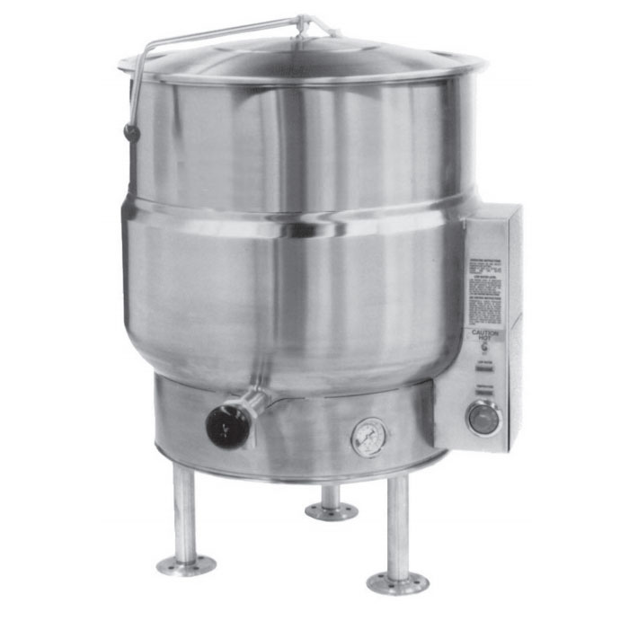 Market Forge F-40LE 40-Gallon Kettle, Tri-Leg, Stainless, 208/3 V