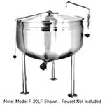 Market Forge F-40LF 40-gal Kettle, Direct Steam w/ Full Steam Jacket Design, Stainless Finish